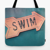 swim Tote Bag by Sylvia Cook Photography