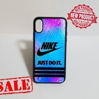 Top Nike.11 Stripe Water Drop Fit Hard Case For iPhone 6 6s 7 8 Plus X Cover +