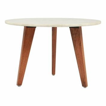 Axton Small Coffee Table Stone & Brown