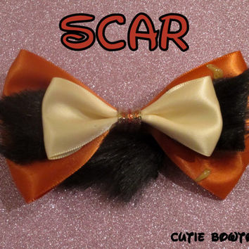 Scar Hair Bow The Lion King Disney Inspired by bulldogsenior08