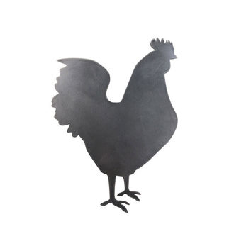 Steel Rooster Wall Decor