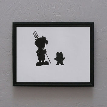 A Wonderful Life   Harvest Moon   Hero and Son   Hand cut black silhouette papercut