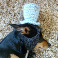 Top Hat Dog Hat CROCHET PATTERN Cute Cat Hat Fancy Dog Hat for Dog Photography Prop for Dog Photo Prop for Dog Costume for Dog Kawaii Cute