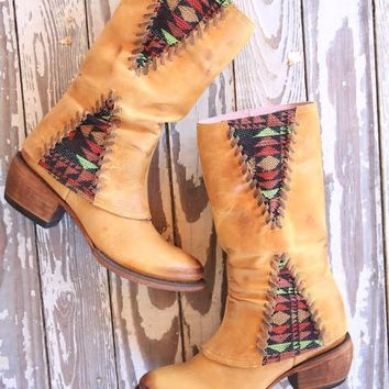 the el paso boot - buckskin