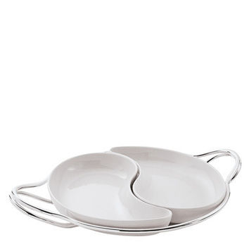 Living Antioxidant Alloy Round Hors d'oeuvre Tray Set