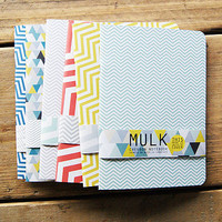Recycled Geometric Or Chevron A5 Notebook
