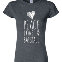 Peace Love And Baseball T Shirt Playoff Fan t shirt Baseball Great Baseball lover t shirt