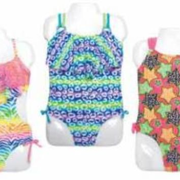 little girl's one-piece swimsuits Case of 48