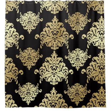 Shop Gold Patterned Curtains On Wanelo