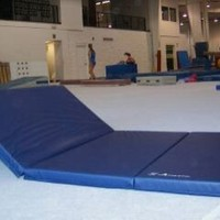 "Z-Athletic 4'x8'x2"" Gymnastics Tumbling Martial Arts V4 Folding Mat"