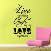 Wall Decal Live Laugh Love Every Mo.. on Luulla