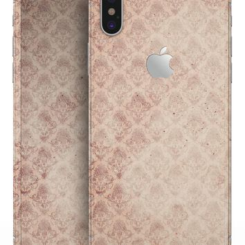 Micro Faded Maroon Rococo Pattern - iPhone X Skin-Kit
