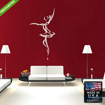 rvz184 Wall Decals Art Decal Sticker Beautiful Dancing Girl Bedroom
