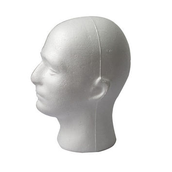 Fascinating Styrofoam Foam Mannequin Manikin Male Head Model Wig Hat DisplayLSUS