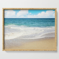beach vibes Serving Tray by sylviacookphotography
