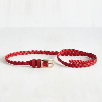 Cinch Is It! Belt in Red | Mod Retro Vintage Belts | ModCloth.com