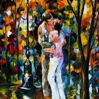 FAREWELL — PALETTE KNIFE Oil Painting On Canvas By Leonid Afremov - Size 20x36. 10% discount coupon - deviantart10off