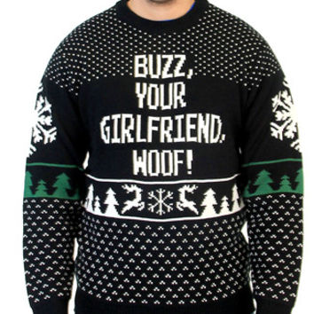 Buzz Your Girlfriend Woof Home Alone Sweater