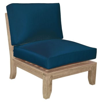 Luxe Center Modular, Navy, Outdoor Club Chairs