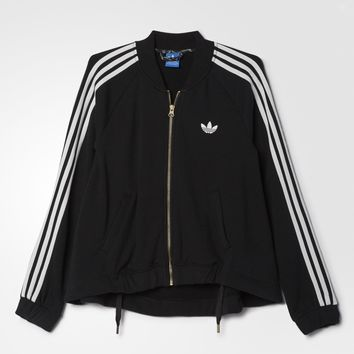 adidas Moscow Mix Logo Track Jacket - Black | adidas US