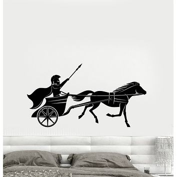 Vinyl Wall Decal Chariot Greek Warrior Ancient History Stickers (3205ig)