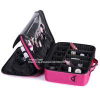 Famous Brand Professional Cosmetic Bag Large Capacity Travel Storage Suitcases High Quality Solid Makeup Organizer Bolso Mujer
