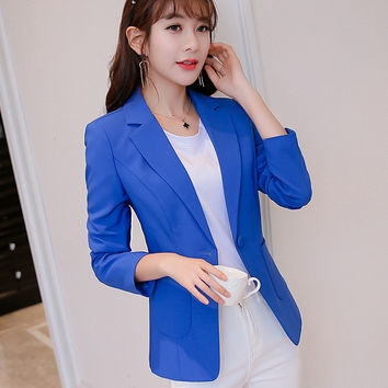 2017 New Women Blazer Spring Slim Top Short Design Plus Size Blazer Suit Female Suit & Women Work Wear Veste Blazer Femme XY1065