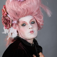 Pink Rococo Victorian style wig by CandyCrypt on Etsy