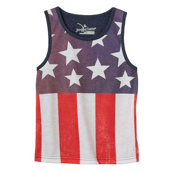 Jumping Beans American Flag Subliminated Tank - Boys 4-7, Size: