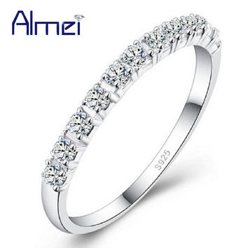 Almei Trendy 2mm Platinum Plated Wedding Wedding Bands Women