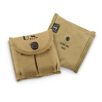 Reproduction U.S. Military WWII Carbine Mag Pouches, 2 Pack - 625284, Reproduction Memorabilia at Sportsman's Guide