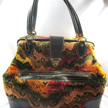 Carpet Bag Vintage Homa Over Night Bag Travel Bag Unique Collectible Decor
