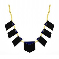 House of Harlow 1960 Jewelry Modern Motif Necklace Black