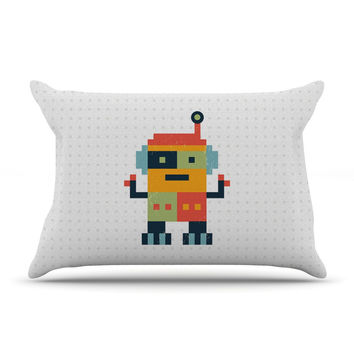 "Daisy Beatrice ""Happy Robot"" Multicolor Pillow Sham"