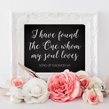 I Have Found the One Sign - 8 x 10 sign - Instant Download - DIY Printable Sign - Carousel on chalkboard -  PDF and JPG files