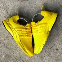 "NIKE""Air Presto Women Men Fashion Running Sport Casual Shoes Sneakers - Yellow"