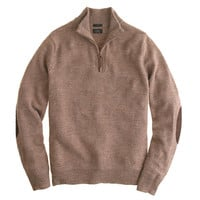 J.Crew Mens Slim Rustic Merino Elbow-Patch Half-Zip Sweater