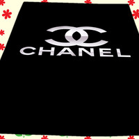 Coco Chanel Black Logo Design Kids Blankets Bedroom Vintage Home Living Quilts
