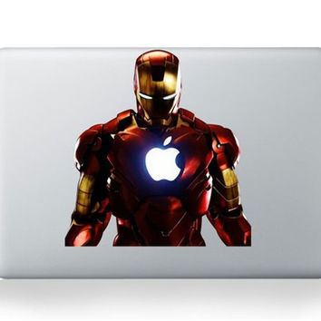 Laptop Sticker 11 13 15 17 inch The Avengers Iron Man Vinyl For Macbook Air Sticker PVC Decal Cover Sticker For Macbook Sticker