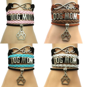 Dog Mom Infinity Love Bracelet - 4 colors