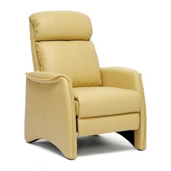 Baxton Studio Aberfeld Tan Modern Recliner Club Chair  Set of 1