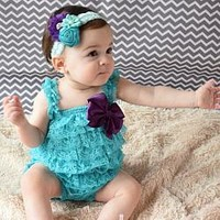 Your Final Touch offers a large selection of Lace Rompers in every style and color you can think of for Cake Smash 1st Birthday Parties, Photo Shoots, Play. Rompers are available in sizes from newborn to 5T.
