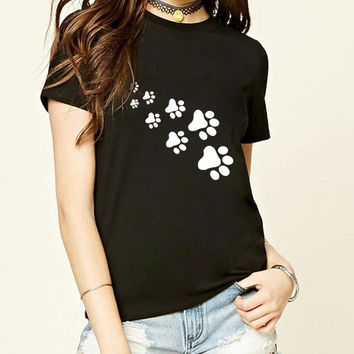 Cat Paws Print - Women's Novelty T-shirt