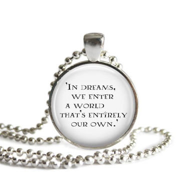 Dumbledore Quote Necklace Handmade Harry Potter Jewelry