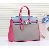 Hermes Newest Trending Women Shopping Leather Handbag Tote Shoulder Bag