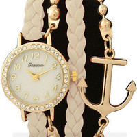 Anchor Bracelet Watch in Ivory from P.S. I Love You More Boutique