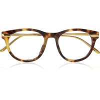 Linda Farrow Luxe | Tortoiseshell D-frame acetate optical glasses | NET-A-PORTER.COM