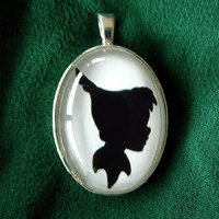 Peter Pan Silhouette Disney Cameo Pendant Necklace