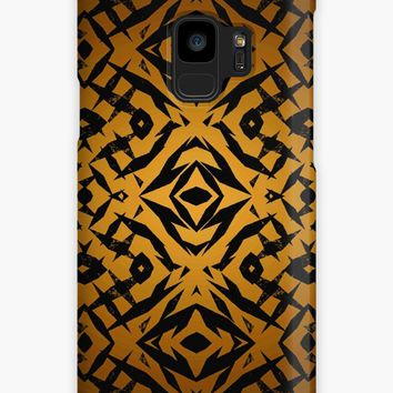 'Yellow tribal shapes pattern' Case/Skin for Samsung Galaxy by steveball