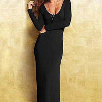Faye Sweater Maxi Dress  - Extended Length